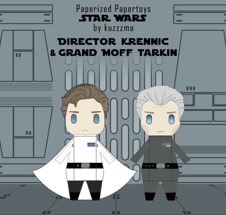 Paperized Star Wars paper toy - Director Krennic & Tarkin