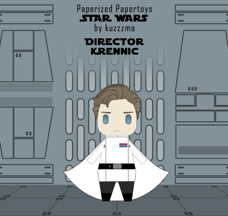 Paperized Star Wars paper toy - Director Krennic