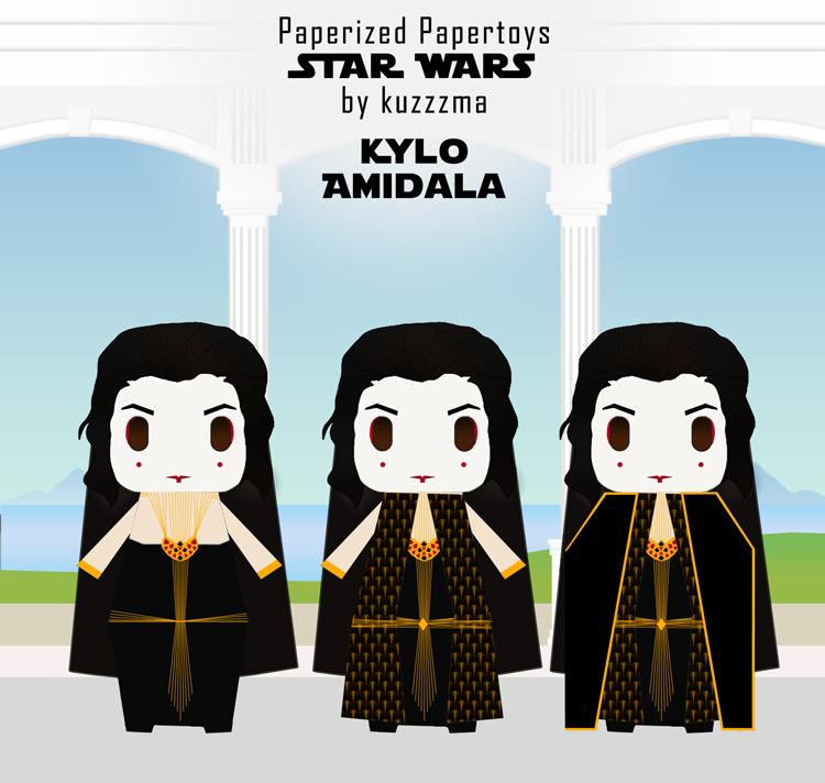 Paperized Star Wars paper toy - Kylo Amidala