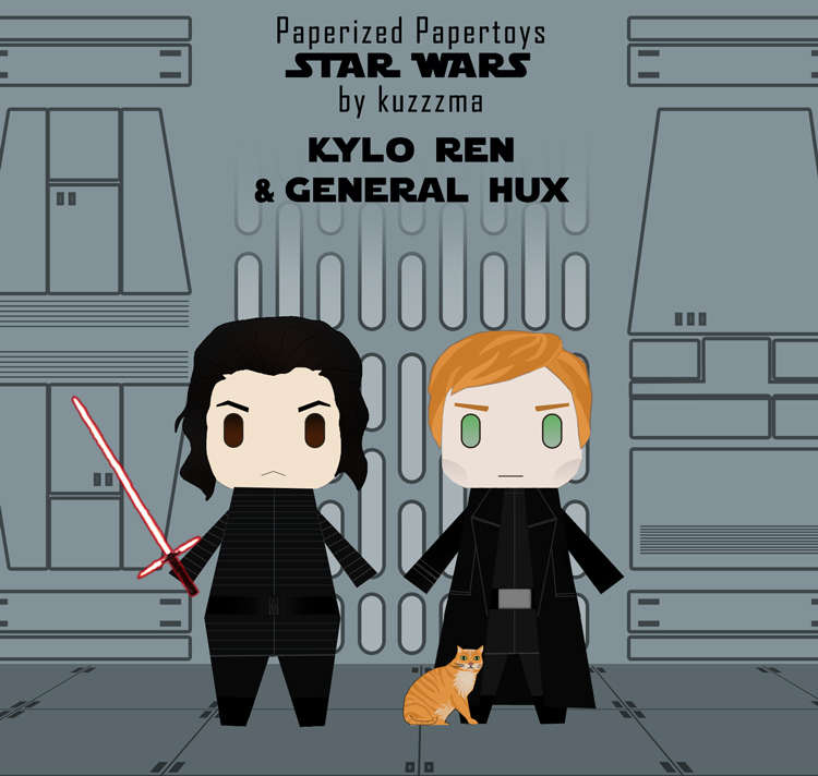 Paperized Star Wars paper toy - General Hux & Kylo Ren