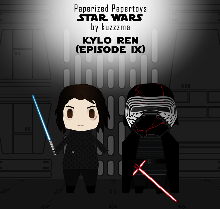 Paperized Star Wars paper toy - Kylo Ren (Episode IX)