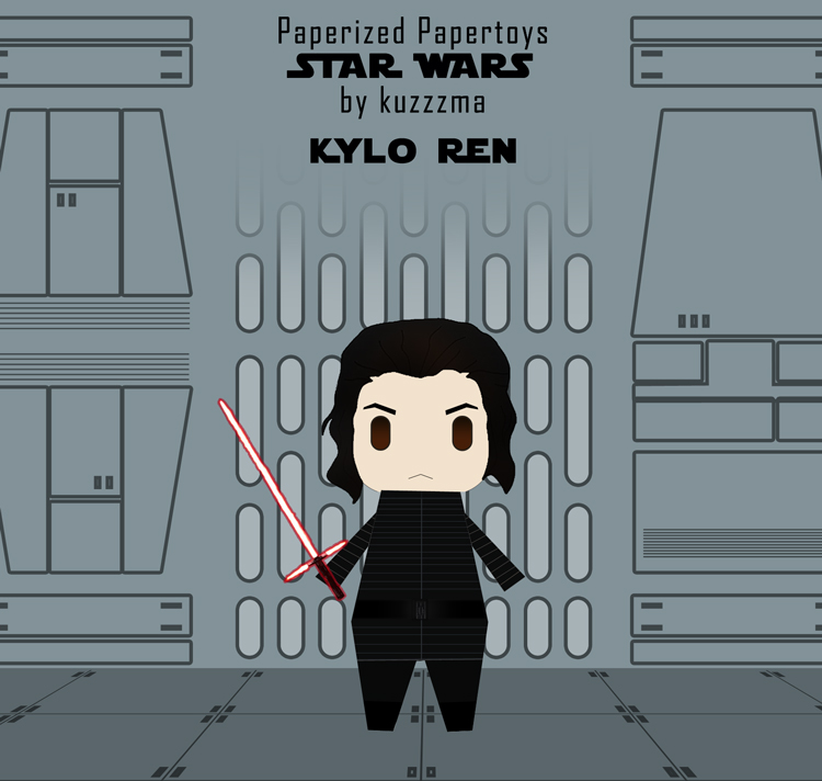 Paperized Star Wars paper toy - Kylo Ren