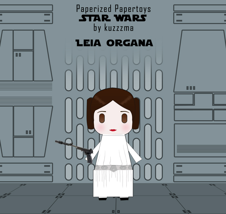 Paperized Star Wars paper toy - Leia Organa preview