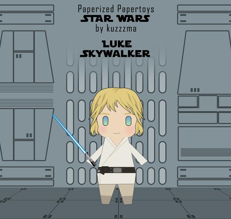 Paperized Star Wars paper toy - Luke Skywalker preview