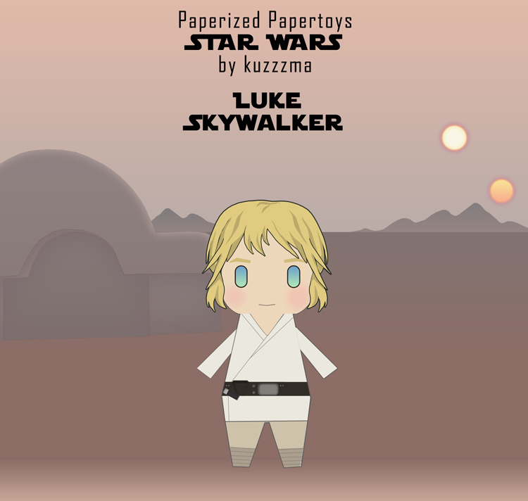 Paperized Star Wars paper toy - Luke Skywalker on Tatooine preview