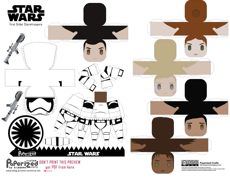 Paperized Star Wars paper toy - First Order Stormtroopers pattern preview