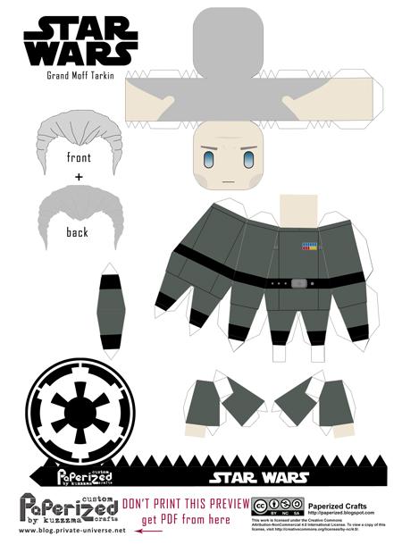 Paperized Star Wars paper toy - Tarkin pattern preview