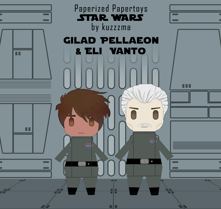 Paperized Star Wars paper toy - Eli Vanto & Gilad Pellaeon