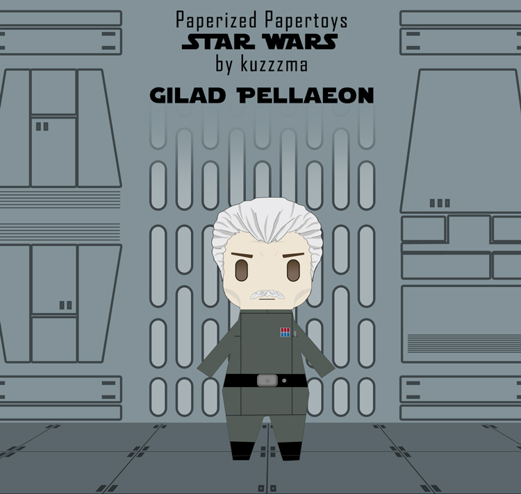 Paperized Star Wars paper toy - Gilad Pellaeon