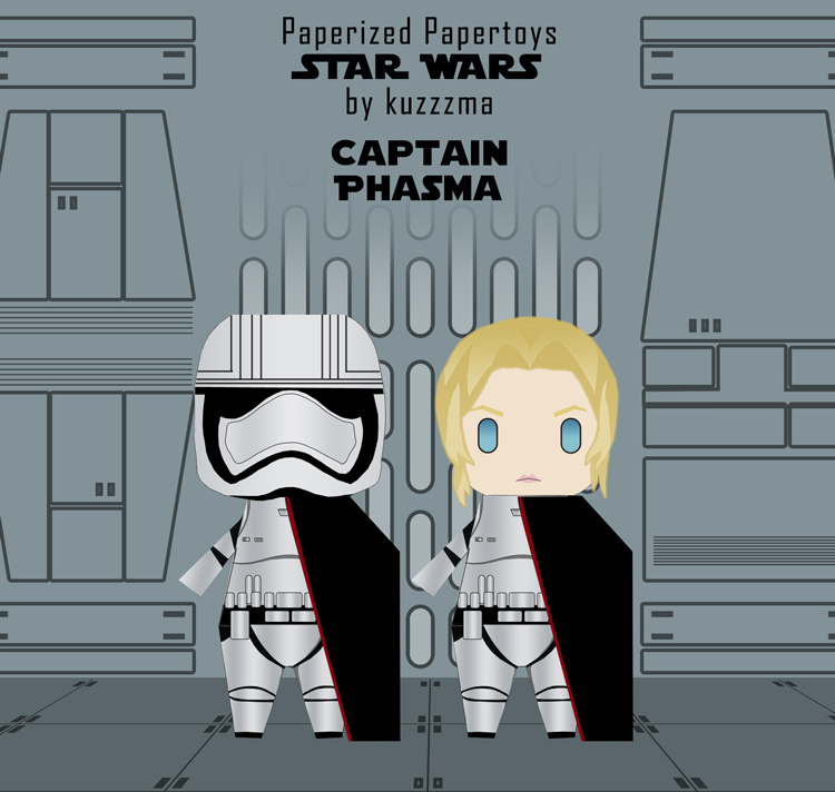 Paperized Star Wars paper toy - Captain Phasma