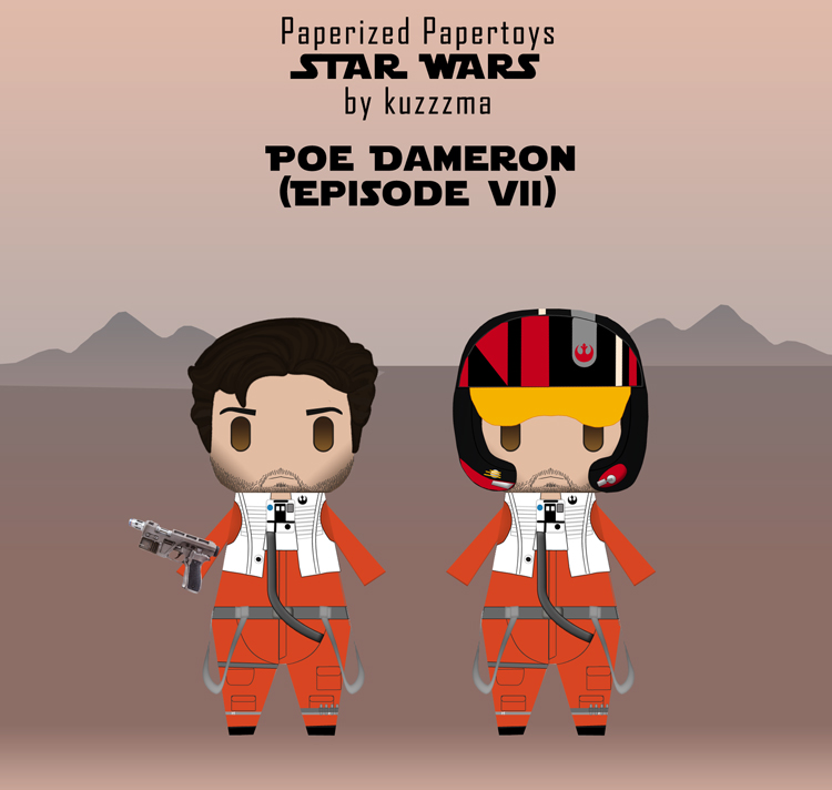 Paperized Star Wars paper toy - Poe Dameron (Episode VII)