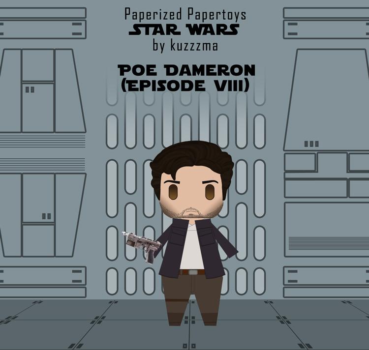 Paperized Star Wars paper toy - Poe Dameron (Episode VIII)