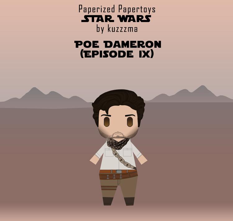 Paperized Star Wars paper toy - Poe Dameron (Episode IX)