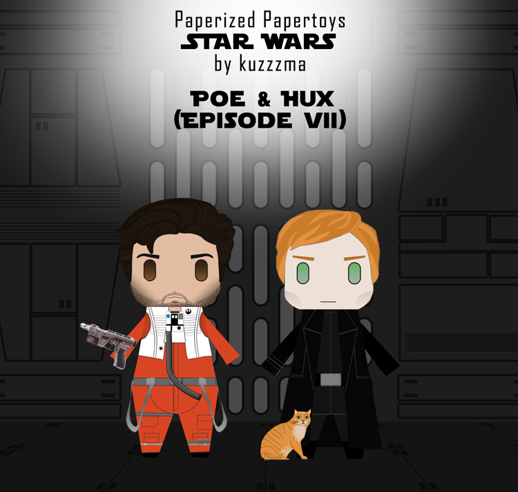 Paperized Star Wars paper toy - Poe Dameron and Hux (Episode VII)