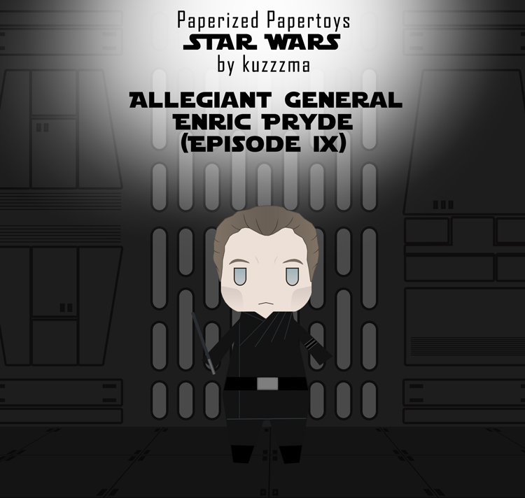 Paperized Star Wars paper toy - General Enric Pryde (Episode XI) pattern preview