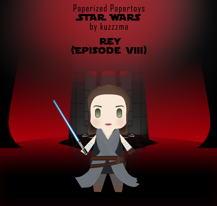 Paperized Star Wars paper toy - Rey (Episode VIII)