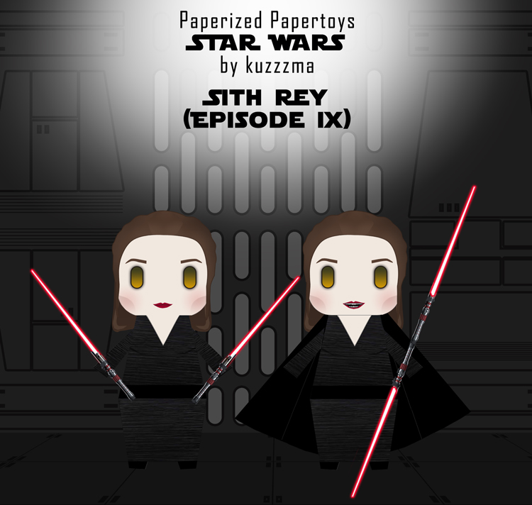 Paperized Star Wars paper toy - Sith Rey (Episode XI) preview