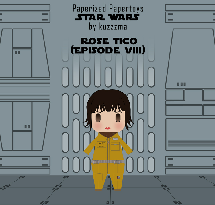 Paperized Star Wars paper toy - Rose Tico (Episode VIII)