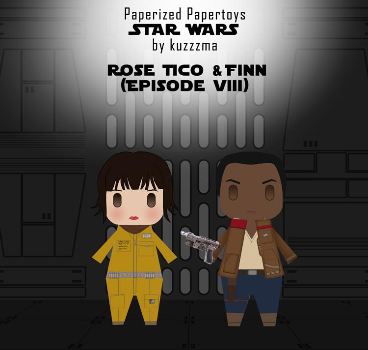 Paperized Star Wars paper toy - Rose Tico & Finn (Episode VIII)