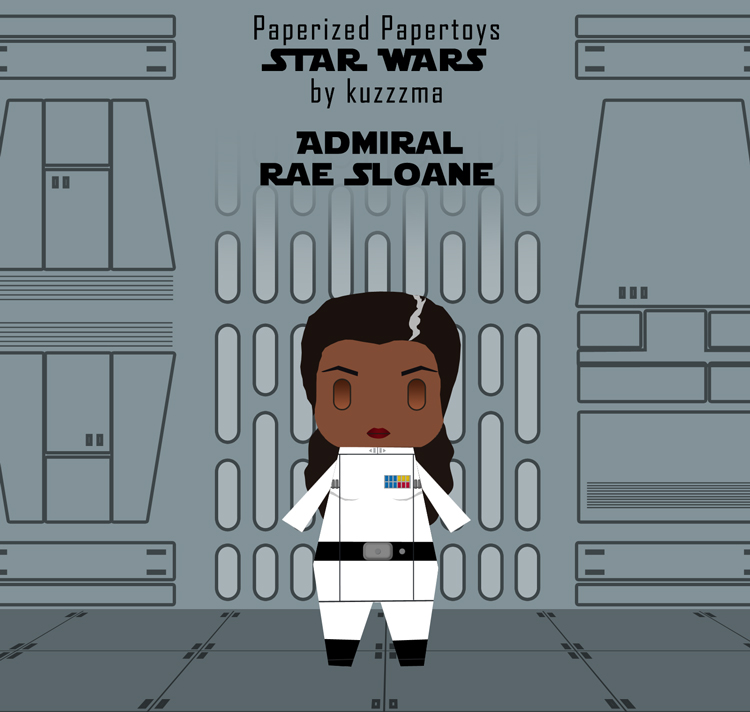 Paperized Star Wars paper toy - Rae Sloane preview