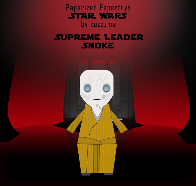 Paperized Star Wars paper toy - Supreme Leader Snoke (Episode VIII)