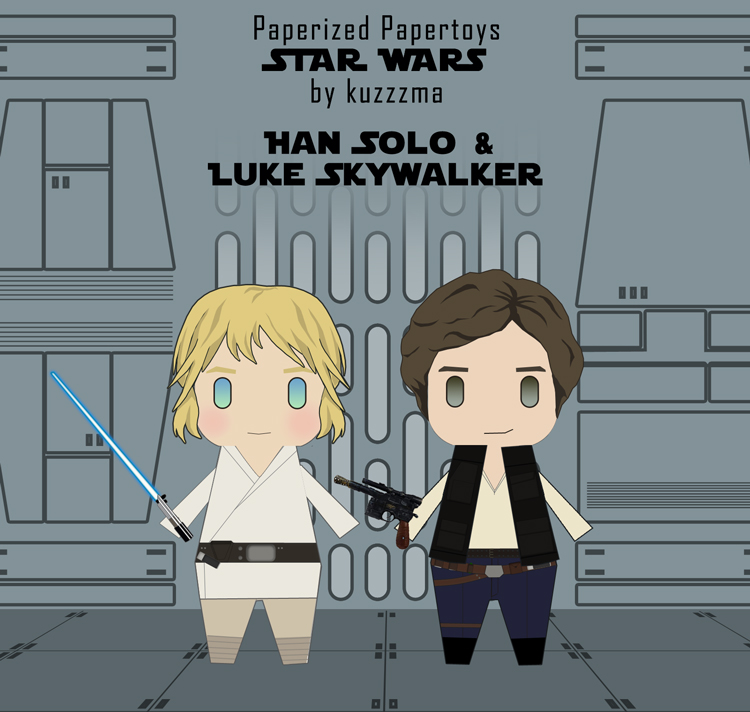 Paperized Star Wars paper toy - Luke Skywalker and Han Solo preview