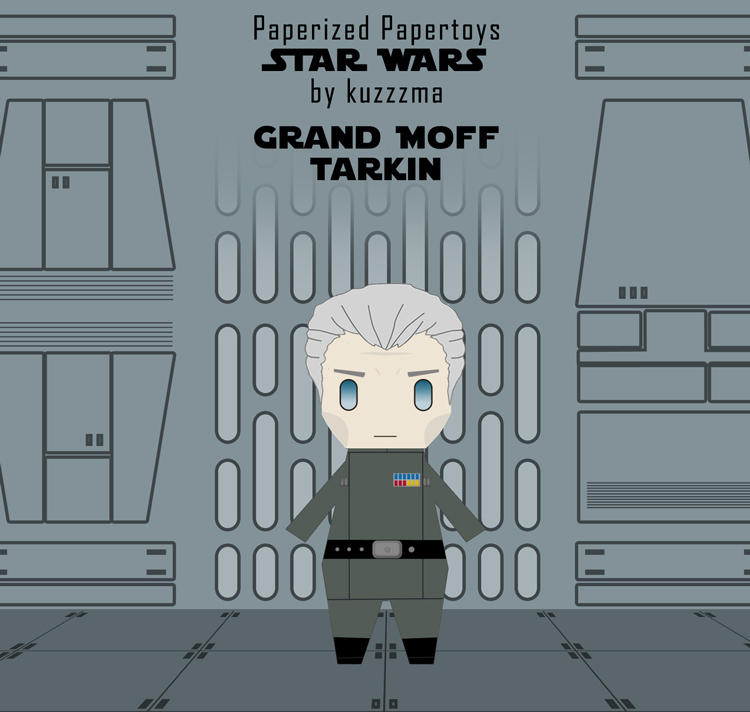 Paperized Star Wars paper toy - Grand Moff Tarkin
