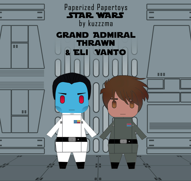 Paperized Star Wars paper toy - Admiral Thrawn and Eli Vanto
