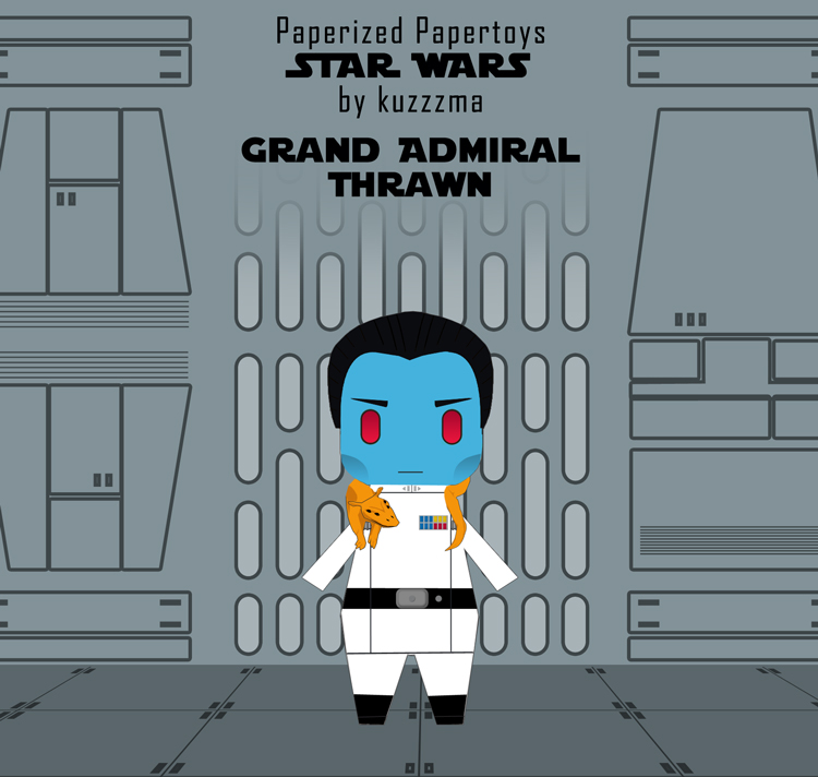 Paperized Star Wars paper toy - Admiral Thrawn