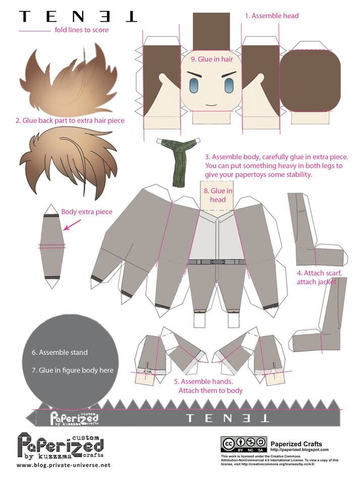 Paperized Tenet papertoys How-to