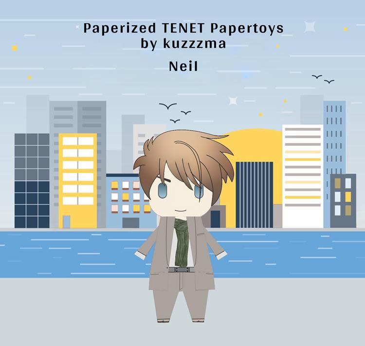 Paperized Neil papertoy
