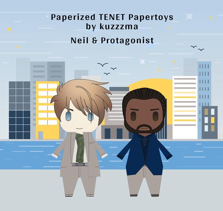 Paperized Tenet papertoys