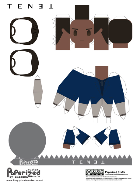 paperized Tenet papertoy Protagonist