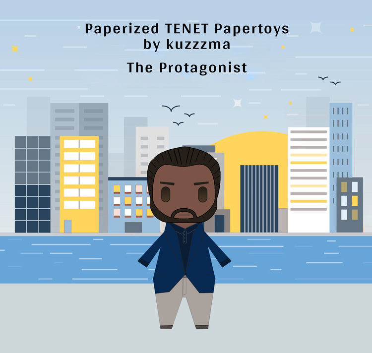 Paperized Protagonist papertoy