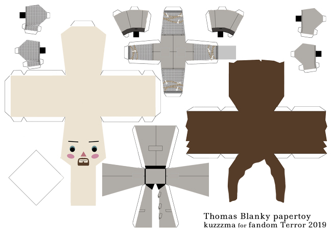Thomas Blanky with forks papertoy