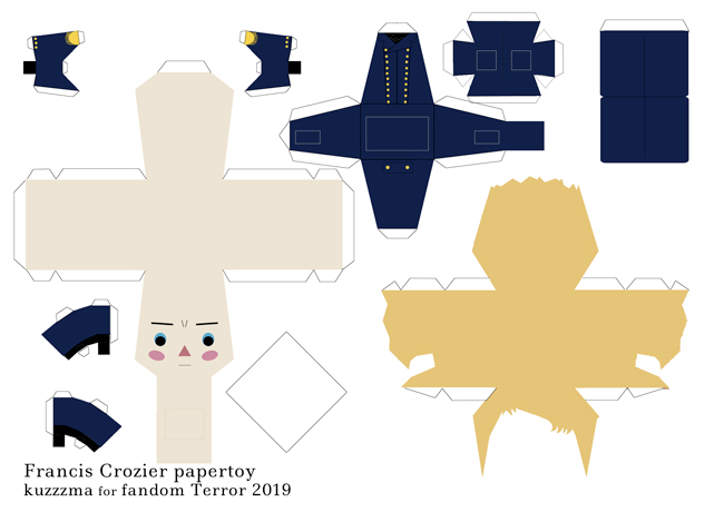 Francis Crozier in Dress coat papertoy