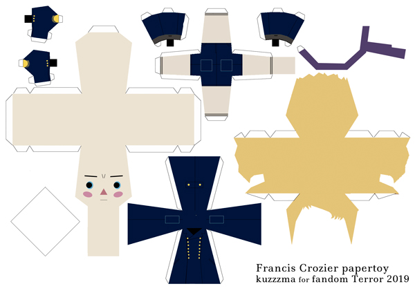 Francis Crozier in Greatcoat papertoy