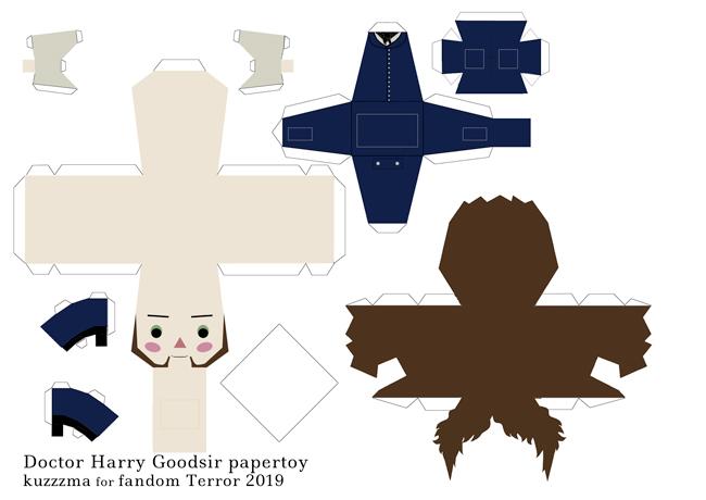Doctor Harry Goodsir papertoy