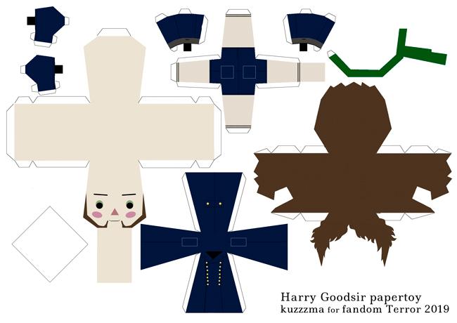 Doctor Harry Goodsir in Greatcoat papertoy